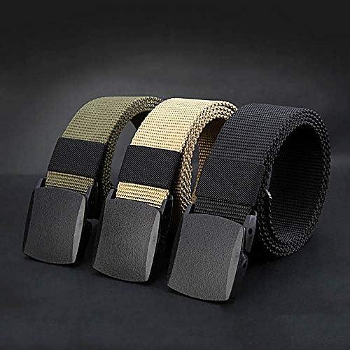 タクティカルベルト 作業用、普段使いに カッコイイ 自動バックルのウエストベルト ユニセックスのウエストバンド カーキ色