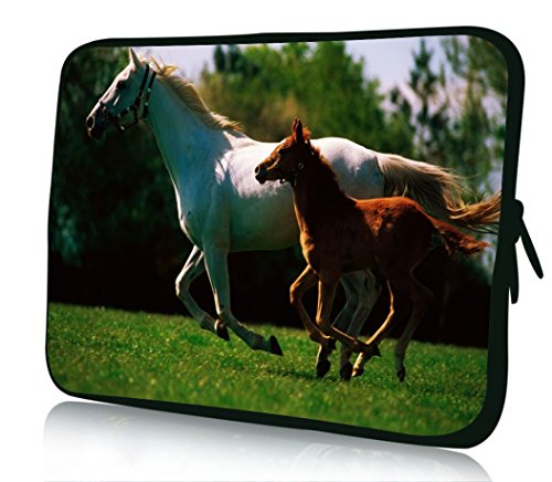 10 inch Rikki KnightTM Mare And Foal Galloping Together In Ireland Design Laptop sleeve - Ideal for iPad 2,3,4, iPad Air, Galaxy Note, Small Notebooks and other Tablets