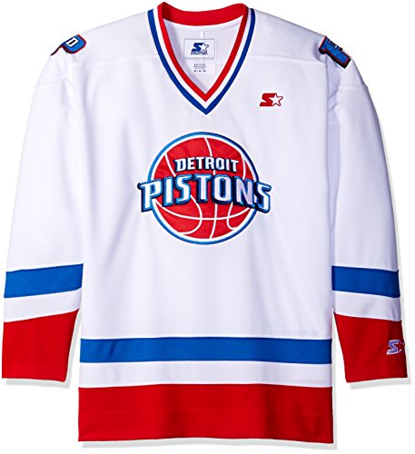 (NBA Detroit Pistons Hockey Inspired Fashion Jersey, Large, White)