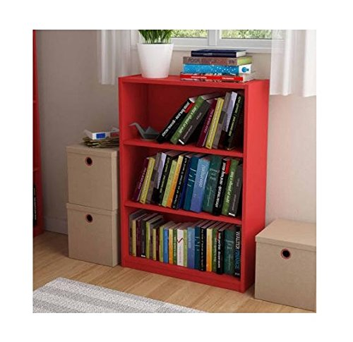 Ameriwood 3-shelf Bookcase, Multiple Finishes. Ideal for Dorm Room, Home Office, Living Room or Any Room. (Ruby Red) (Ca Room Living)