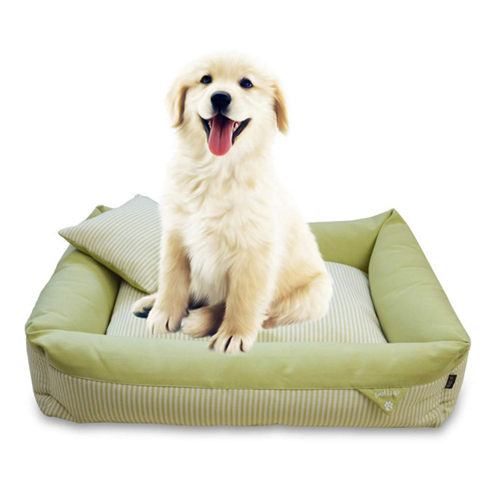 Green 1008020cm Green 1008020cm Pet Bed Pet Bed, Detachable Kennel cat Litter, Four Seasons Universal bite Resistant Kennel (color   Green, Size   100  80  20cm)
