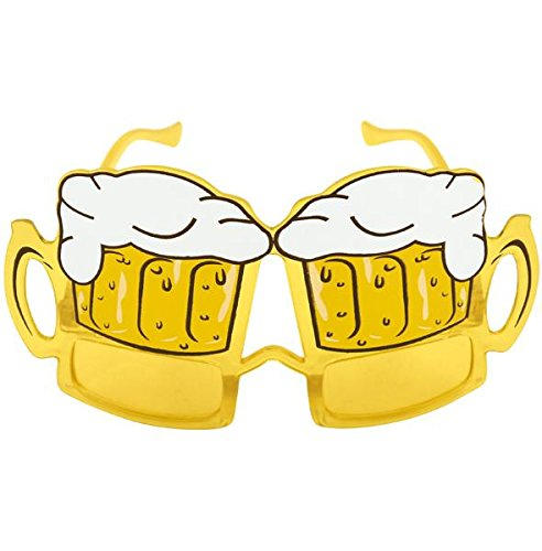 Fancy Dress Glasses Beer Pink Hippie Or Goggle Nerd Adults Fun Party Accessory (Beer - Nerd Goggles