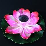 Solaire Multi-Couleur LED Lotus Fleur Light Lampe Flottant Jardin Pool Cour Lac