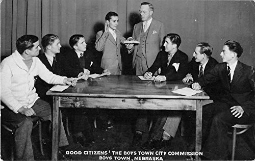 Boys Town Nebraska Town City Commission Real photo Postcard J49885