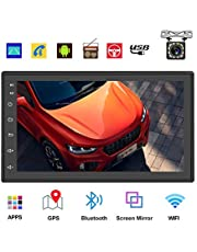 Podofo Car GPS Navigation Stereo - Double Din Android Head Unit with Bluetooth 7 inch LCD Touch Screen Support FM Radio/WiFi/GPS Navigation