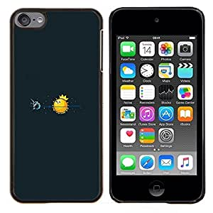 Caucho caso de Shell duro de la cubierta de accesorios de protección BY RAYDREAMMM - Apple iPod Touch 6 6th Touch6 - Rey Sol
