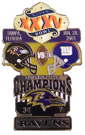 Super Bowl XXXV Oversized Commemorative Pin by Pro Specialties Group