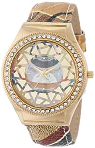 Gattinoni Women's 202848GA13-44B Mosaic Gold Ion-Plated Coated Stainless Steel Swarovski Crystal Watch
