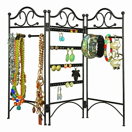 3 Panel Earrings Bracelets Necklaces Organizer