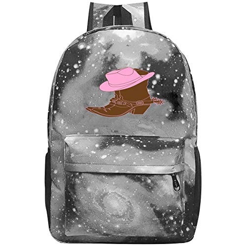 25 Gallon Powder - Fun Powder Hat Boots Fashion Casual Large-Capacity Star Backpack Unisex Travel Bag Gray
