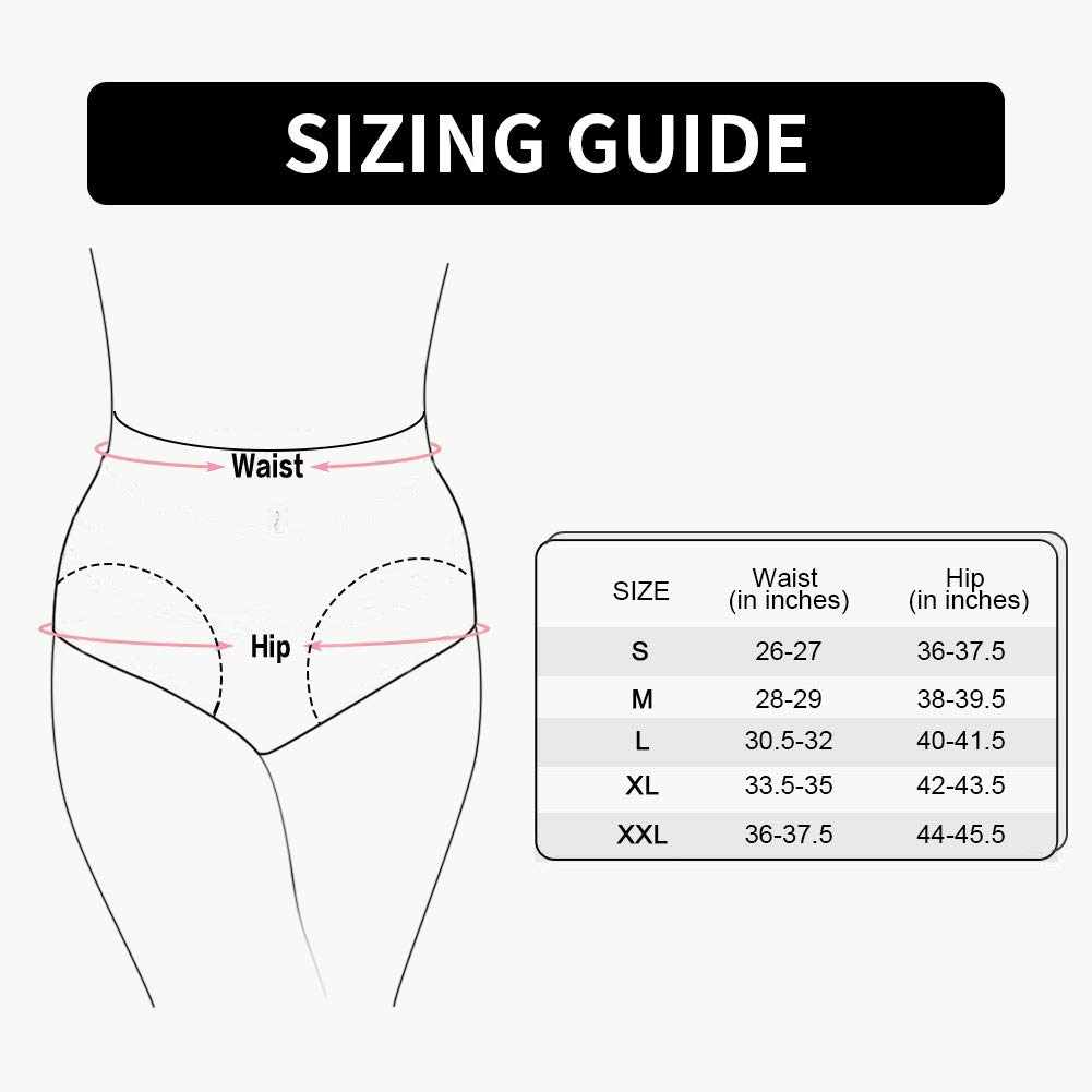 IESUNNY Women\'s Cotton Lace Underwear Panties Soft Comfortable Breathable High Rise Ladies Briefs for Women