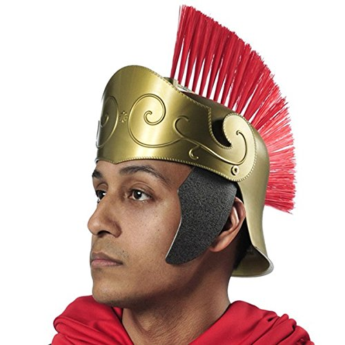 Amscan Gracious God and Goddess Roman Helmet (1 Piece), One Size, (Greek Gods And Goddesses Costumes For Men)