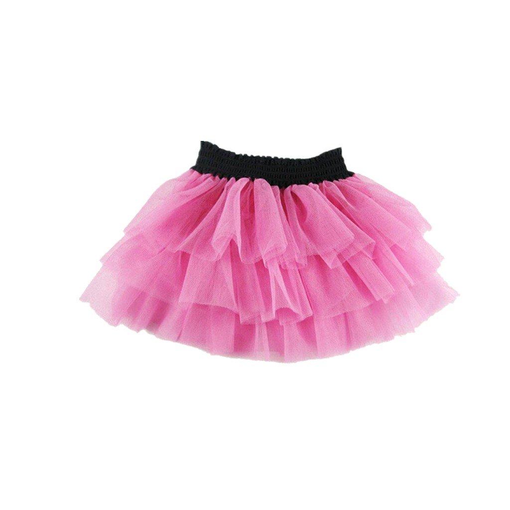 Clode® for 1-2 Years Old, Kid Baby Girls High Waist Mini Gauze Bubble Pincess Voile Dance Skirt Clode-T68