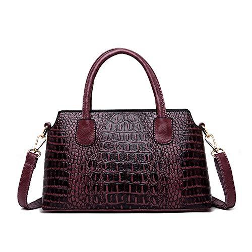 Onzama Women Fashion Top Handle Bags Satchel Handbags Crocodile Embossed Faux Leather Crossbody Totes