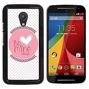 Be Good Phone Accessory // Dura Cáscara cubierta Protectora Caso Carcasa Funda de Protección para Motorola MOTO G 2ND GEN II // Quote Love Lover Girlfriend Polka Dot