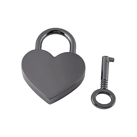 GLOGLOW Candado en Forma de corazón de Metal pequeño ...