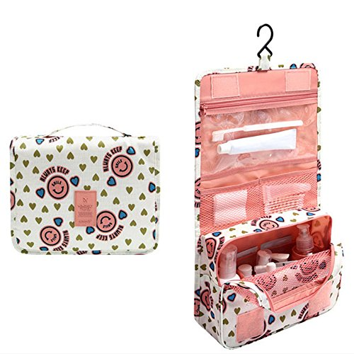 Happy Hours - Portable Smile Waterproof Hanging Toiletry Bag Pouch / Multifunction Outdoor Cosmetic Organizer Storage Makeup Kit Case with Mesh Pockets for Travel and - Usa Gucci Outlet