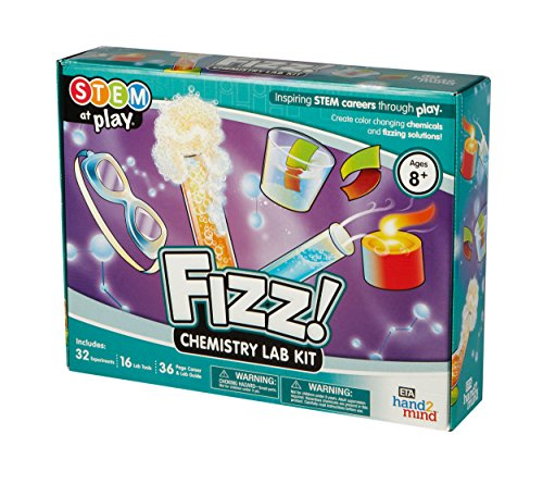 FIZZ Chemistry Science Kit For Kids Ages 8+ - Build 32 STEM Career Experiments and Activities | Make Your Own Foam, Crystals, Magic Tricks, and More | Educational Toy | STEM Authenticated