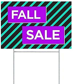 5-Pack CGSignLab Fall Sale Modern Block Double-Sided Weather-Resistant Yard Sign 18x12