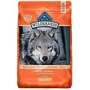 Blue Buffalo Wilderness High Protein Grain Free, Natural Adult Large Breed Dry Dog Food, Chicken 24-Lb 12