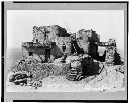 - HistoricalFindings Photo: Old Hopi house,dwellings,Indians,Native Americans,North,Walpi,Arizona,AZ,c1921