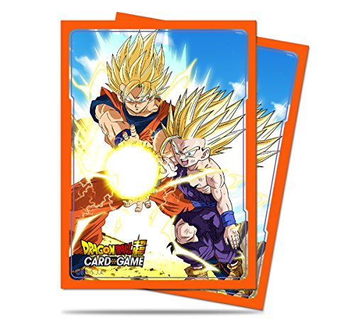 Ultra Pro Official Dragon Ball Super Father-Son Kamehameha Standard Deck Protector Sleeves (65ct)