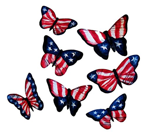 Applique Stripes Flag ([7 Count Set] Custom and Unique (2