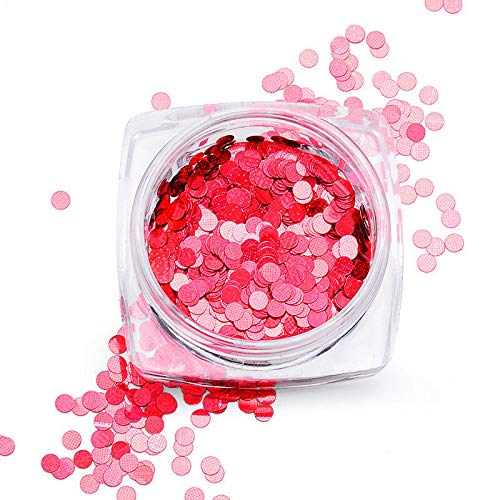 Ultrathin Nail Art Sequins UV Gel Colorful Shiny Round Stickers Decoration Tips (Color - Q03)