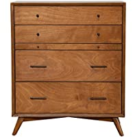 4-Drawer Mid Century Modern Multifunction Chest