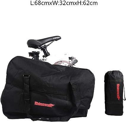 Bolsa Transporte Bicicleta Plegable, Bolsa De Almacenamiento De Bici Bolsa para El Manillar Bolso Plegable para El Envío De Viajes, 20 Pulgadas (Negro 14 Pulgadas): Amazon.es: Deportes y aire libre