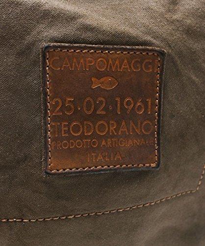 enduite Militaire à Femmes Campomaggi Vert embelli toile sac Vert Militaire dos 1BXaw