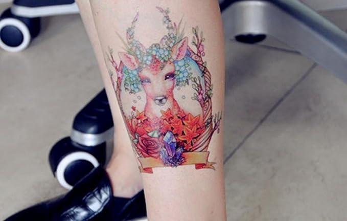 GYMNLJY Etiquetas engomadas del tatuaje color del tatuaje pierna ...