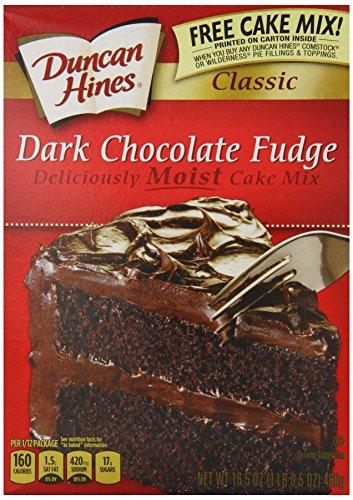 Dark Chocolate Fudge Cake (Duncan Hines Fudge Cake Mix, Dark Chocolate, 16.5 Ounce (Pack of 12))