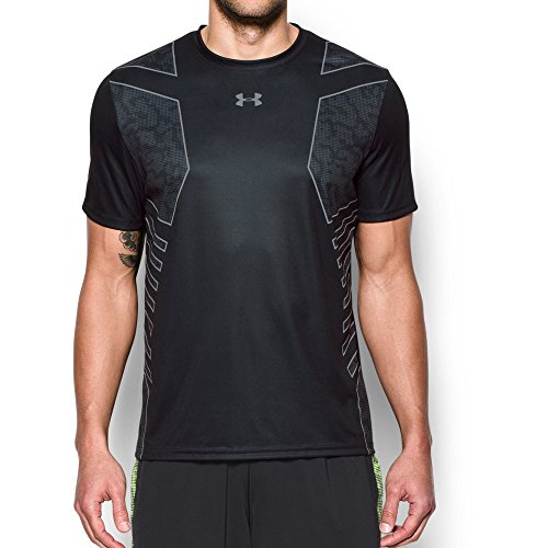Team Training Shirts (Under Armour Men's Football Training T-Shirt, Black/Steel,)