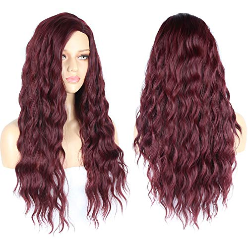 Cosswigs New Style Long Burgundy Wigs Realistic Looking