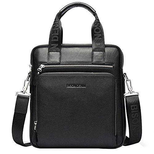 mens leather briefcase cross shoulder