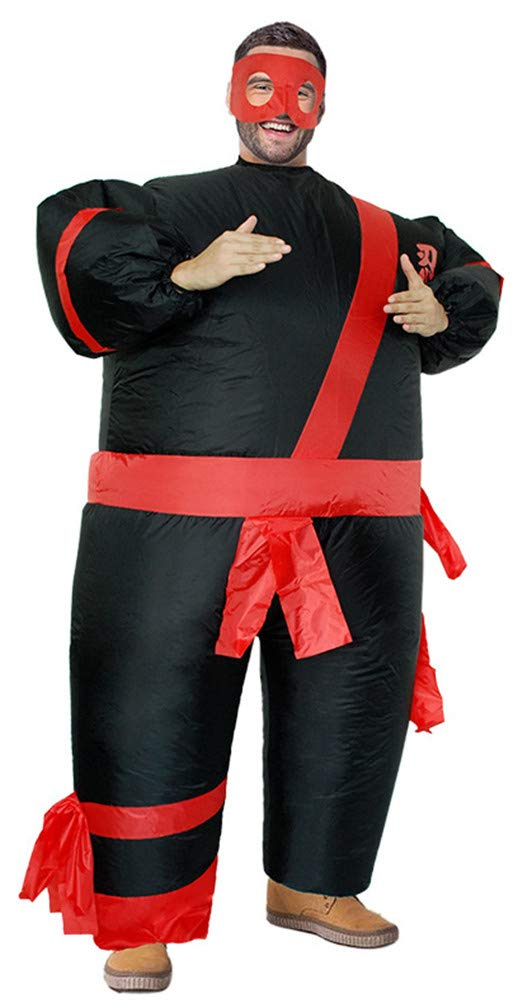 Inflatable Costumes Adult,Halloween Funny Japanese Samurai Wrestler Wrestling Suits Blow up Cosplay Costume(Free Size)