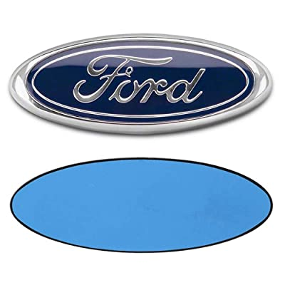 OSIRCAT 7 Inch Front Tailgate Emblem,Blue Decal Badge Nameplate for Ford Escape Excursion Expedition Freestyle F-150 F-250 F350: Automotive