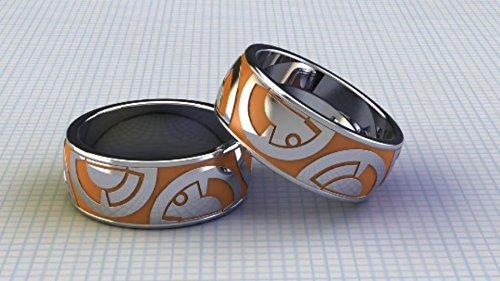 Dot Enamel Band - Beautiful Custom BB Band Stunning Enameled Ring For Gents