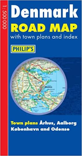 Philip\'s Road Map Europe Denmark Philip\'s Road Atlases & Maps ...