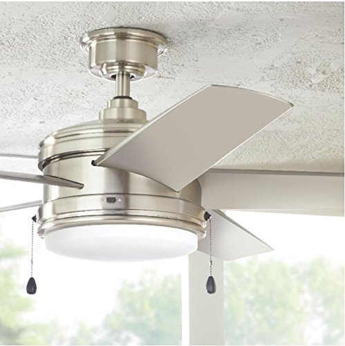 Home Decorators Collection Portwood 60 in. LED Indoor/Outdoor Brushed Nickel Ceiling Fan by Home Decorators Collection