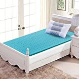 FY-LIVING 2 Inch Gel Infused Memory Foam Mattress Topper for Sleeping Cool, Twin Size, 1-Pack
