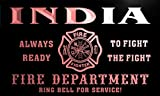 qy2405-r INDIA Fire Dept Fireman Gift Home Decor Neon Light Sign