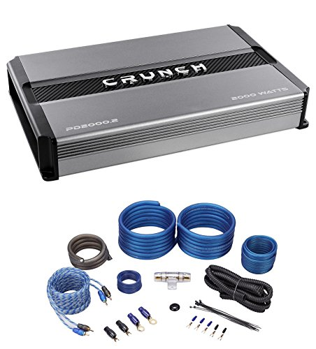 Crunch PD2000.2 2000w 2-Channel Pro Power Car Stereo Amplifier Class AB+Amp Kit