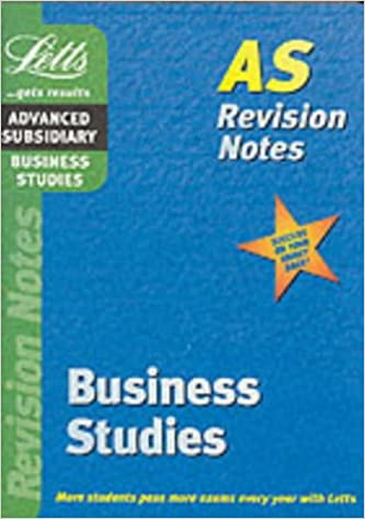 Business Studies: AS Level Revision Notes (Letts AS revision