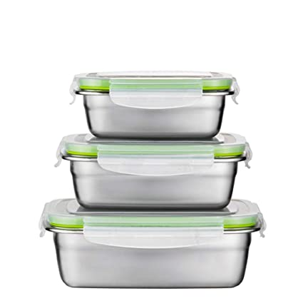 1e949861c3f7 Amazon.com: Stainless Steel Insulated Lunch Box Silicone Sealed ...