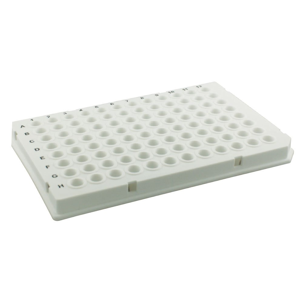0.1ml 96-Well PCR Plate, Natural, Straight Sided, 10 Plates/Unit by Olympus Plastics