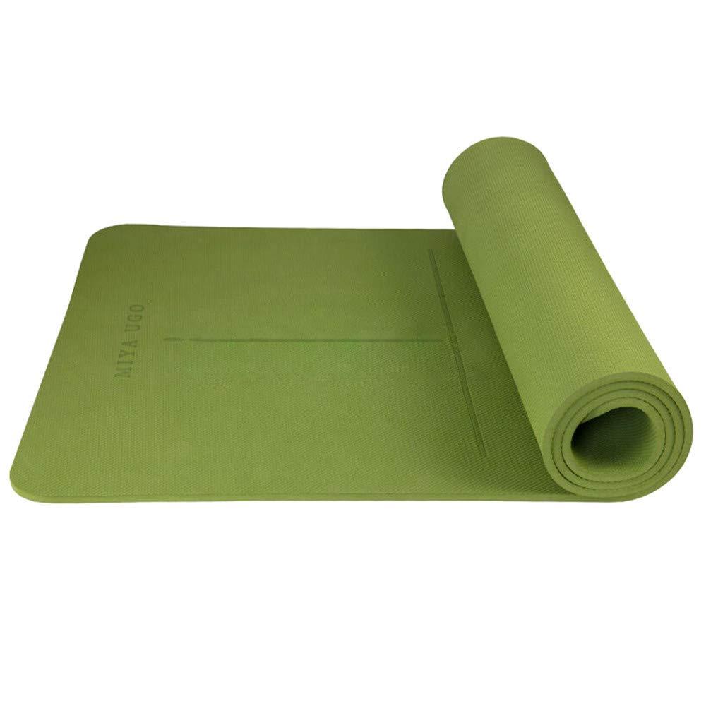 AOOMAT Yogamatte TPE monochrom 8mm verlängert 1800mm Fitness Matte anfänger Fitness Matte körperführung System Yoga Matte