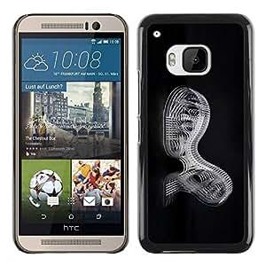 PC/Aluminum Funda Carcasa protectora para HTC One M9 Abstract Mechanics / JUSTGO PHONE PROTECTOR