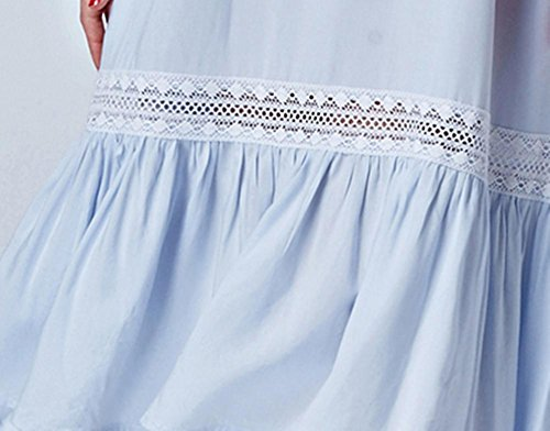 DMMSS Damen Pyjama Eleganter Weicher Nachthemd Kurzen Ärmeln Lingerie